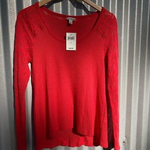 Lucky brand size L brand new long sleeve top